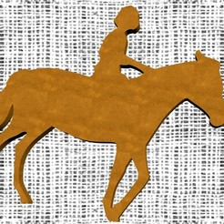 STL file Horse, pendant