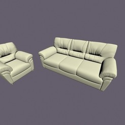 3D printing model Armchair and three-seater, pendant