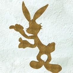 Archivos STL Conejito Bugs, pendant