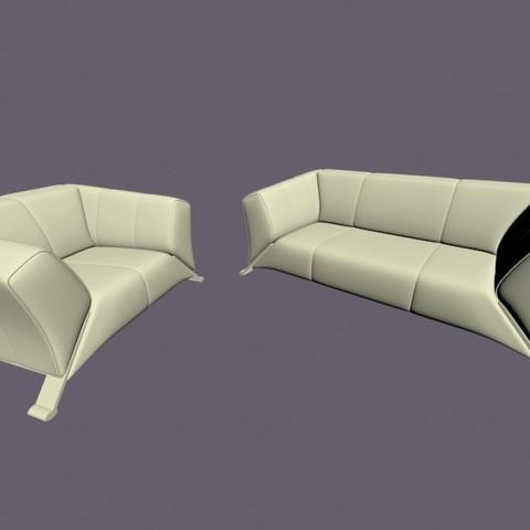 Descargar archivo 3D Sillón y tres plazas n.1, Zorana