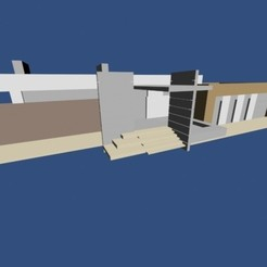 STL file Modern house, pendant