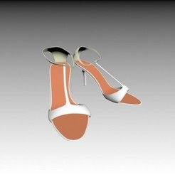 3d model Women shoes, pendant