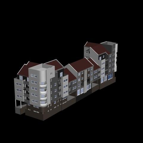 Download free 3D printing templates Building complex, pendant