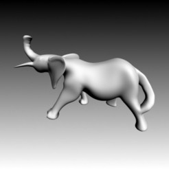 Download free STL file Elephant, Zorana