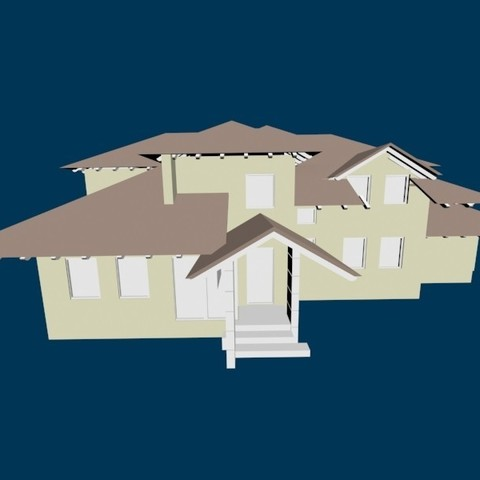 3D print files House 55, pendant