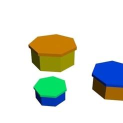 1.jpg Download 3DS file boxes hexagon • 3D printable model, Zorana