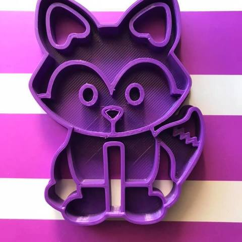Download free 3D printing templates Fox cookie cutter, memy_ironmaiden