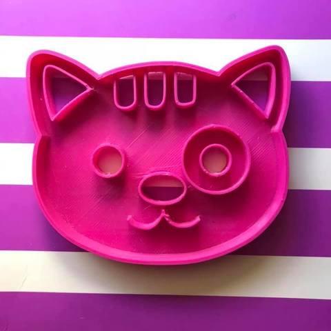 Download free 3D printer designs cat cookie cutter, memy_ironmaiden
