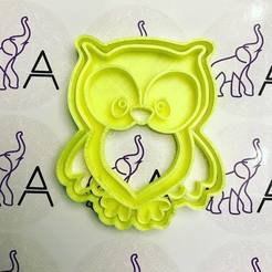 3D printing model owl cookie cutter, memy_ironmaiden