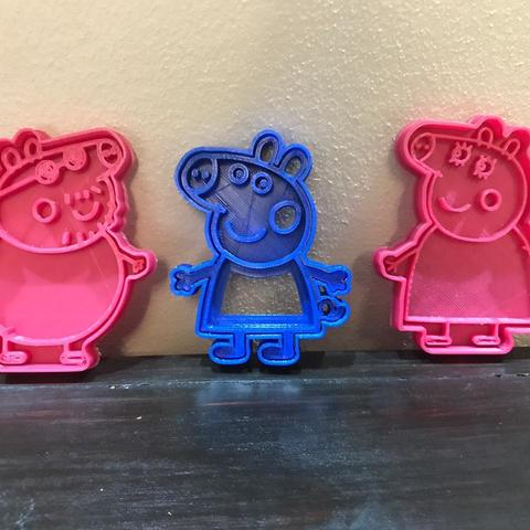 Download free STL file peppa pig cookie cutter • 3D printing design, memy_ironmaiden