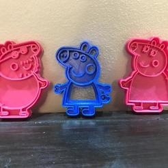 Download free 3D printer designs peppa pig cookie cutter, memy_ironmaiden