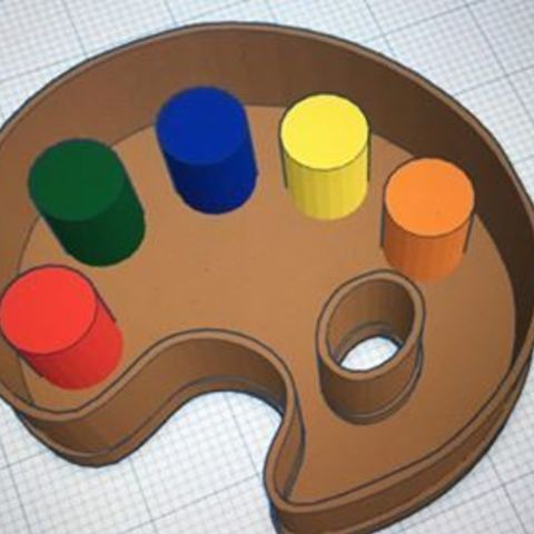 Download free STL painter palette cookie cutter, memy_ironmaiden