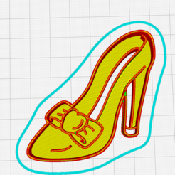 Imprimir en 3D gratis Cinderella cookie cutter, memy_ironmaiden
