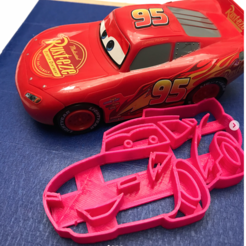 3d printer files cars ray mc queen cookie cutter, memy_ironmaiden