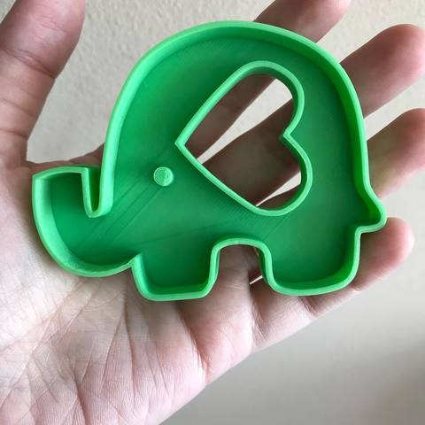 Download free 3D printing files elephant cookie cutter, memy_ironmaiden
