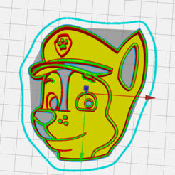 Download STL cookie cutter paw patrol chase, memy_ironmaiden