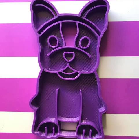 Descargar Modelos 3D para imprimir gratis bulldog cookie cutter, memy_ironmaiden