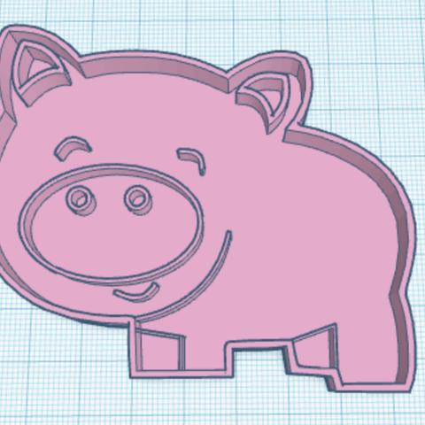 Download free 3D printer templates PIG COOKIE CUTTER, memy_ironmaiden