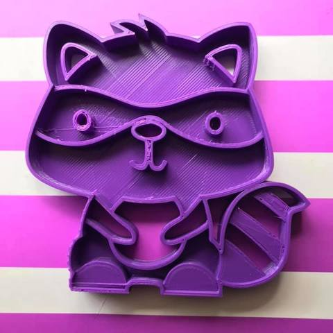 Download free 3D printing files Raccoon cookie cutter, memy_ironmaiden