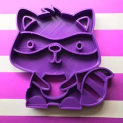 Descargar modelos 3D Raccoon cookie cutter, memy_ironmaiden