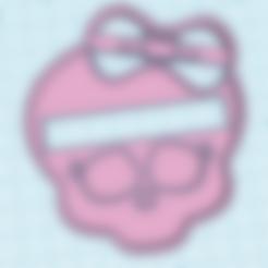skullpink.stl Download free STL file monster high cookie cutter • 3D print design, memy_ironmaiden