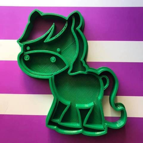 Download free STL file pony cookie cutter • 3D print object, memy_ironmaiden