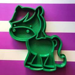 Download 3D printer designs pony cookie cutter, memy_ironmaiden