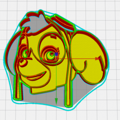 3D printing model paw patrol cookie cutter, memy_ironmaiden