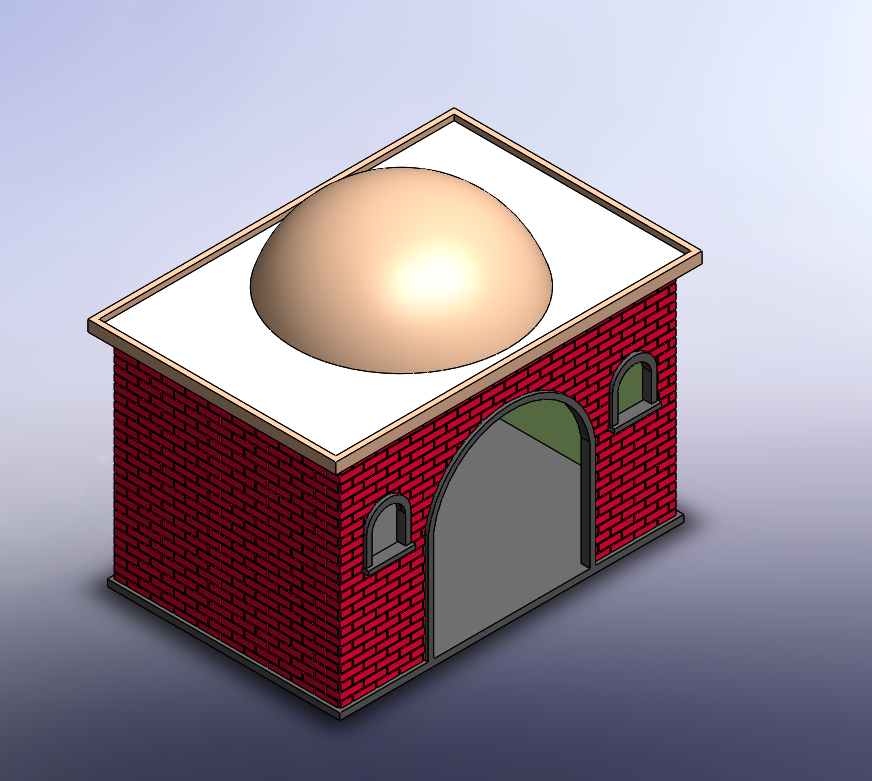 casaconcupulalisa.png Download free STL file Playmobil dome roofs • 3D print object, Imprimetelo3d