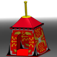 Download 3D printer designs Roman Tent , Playmobil, JG943D
