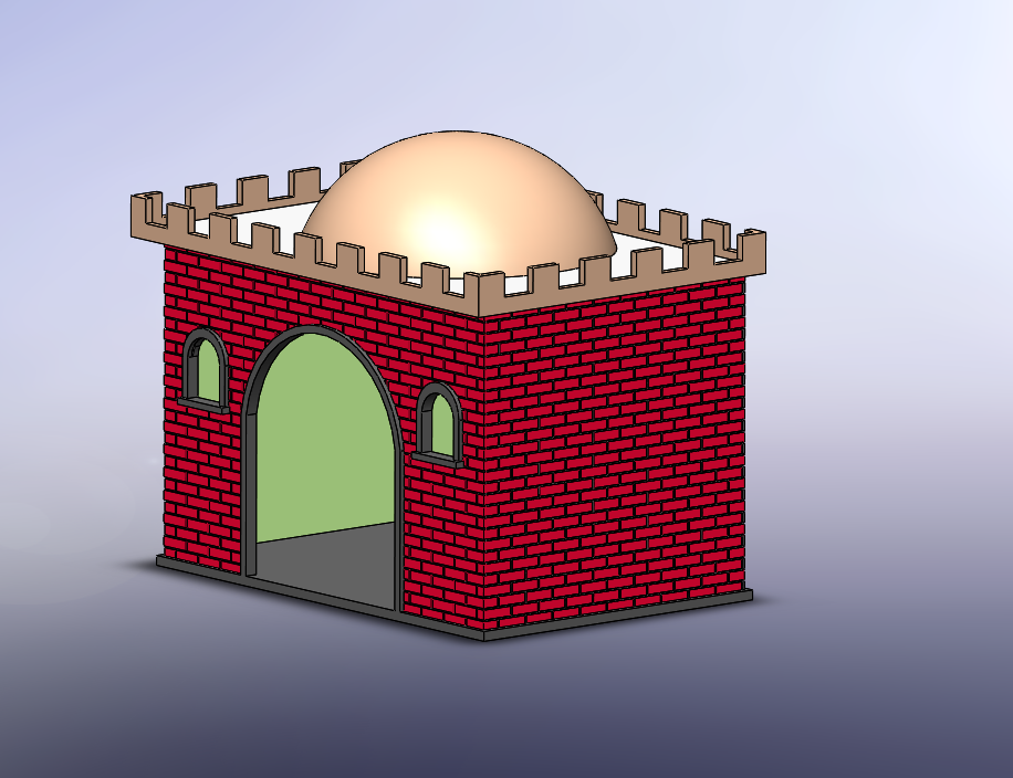 casa con cupula.png Download free STL file Playmobil dome roofs • 3D print object, Imprimetelo3d