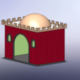 Free 3D printer designs Cupula roofs for Playmobil house, JG943D