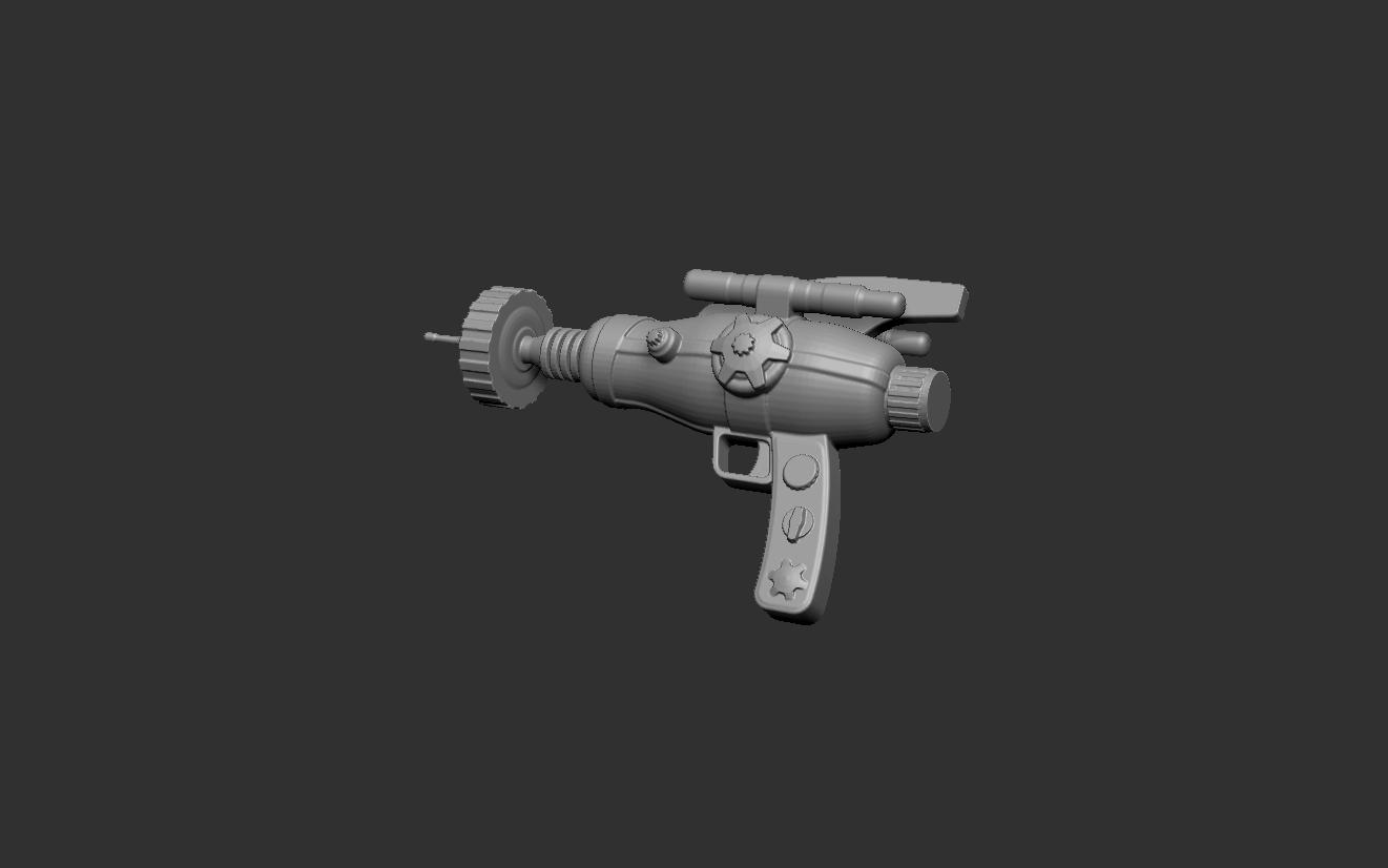 SPpistol2.jpg Download free STL file steampunk laser pistol gun • 3D printing template, cchampjr