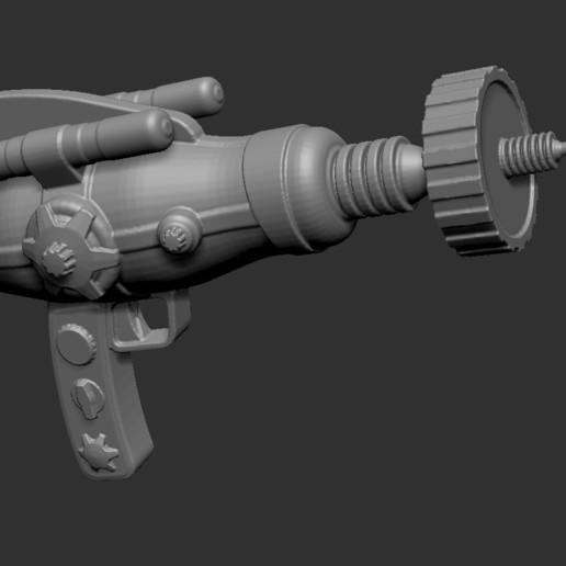 Download free 3D printing models steampunk laser pistol gun, cchampjr