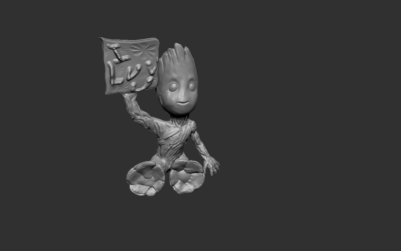 BGILU.jpg Download free STL file Baby Groot ILU • 3D printable model, cchampjr