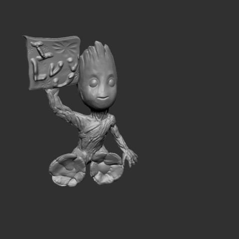 Download free 3D printing designs Baby Groot ILU, cchampjr