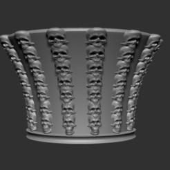 Télécharger plan imprimante 3D Vase de plusieurs crânes, cchampjr