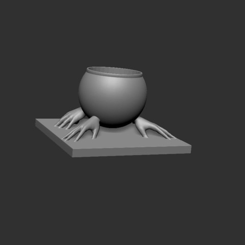 Handsbowl V2.jpg Download free STL file Hands Bowl V2 • 3D printable object, cchampjr