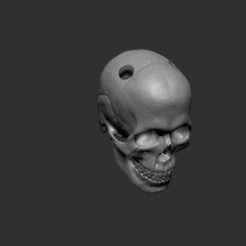 Skull for keychain.jpg Download free STL file Skull for keychain • 3D printable object, cchampjr