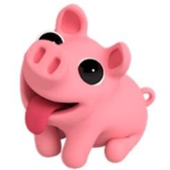 STL file piggy, pink pig, facebook pig sticker, ulluacristianomar
