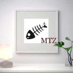 Download free STL FISH WALL SCULPTURE 2D, Misterzen