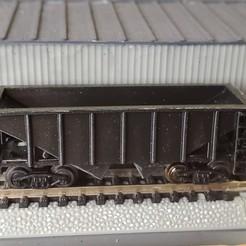 20201107_200500.jpg Télécharger fichier STL Wagon à charbon de 55 tonnes à l'échelle N • Modèle à imprimer en 3D, prat12874