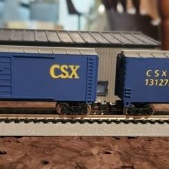 thumbnail_20200314_031250.jpg Télécharger fichier STL Boxcar à l'échelle N • Objet pour impression 3D, prat12874