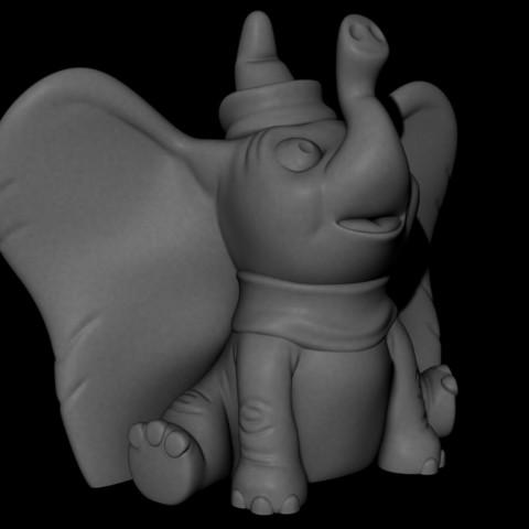 Dumbo.jpg Télécharger fichier STL gratuit Dumbo (Impression facile sans support) • Design à imprimer en 3D, Alsamen