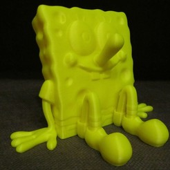 Free STL SpongeBob (Easy print no support), Alsamen