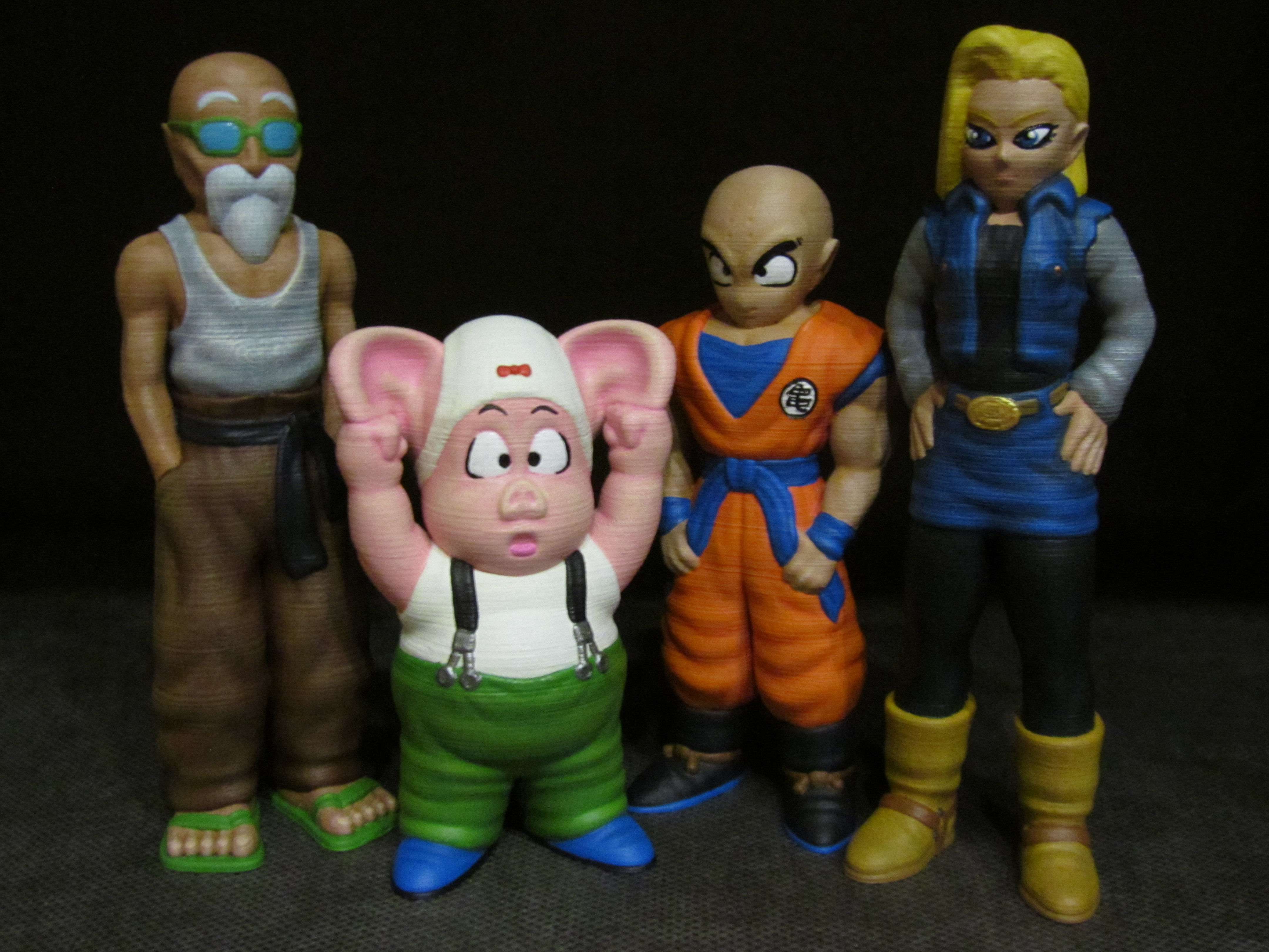 Dragon Ball Collection - Part 3.JPG Download free STL file Roshi (Easy print no support) • 3D printable model, Alsamen