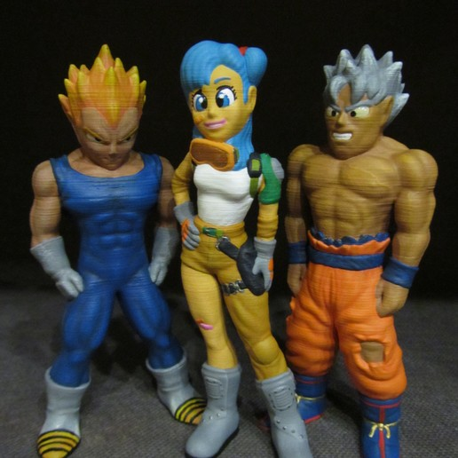 Dragon-Ball-Collection-Part-1.jpg Download free STL file Goku (Easy print no support) • 3D printing template, Alsamen