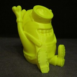 Free 3D print files Happy Minion (Easy print no support), Alsamen