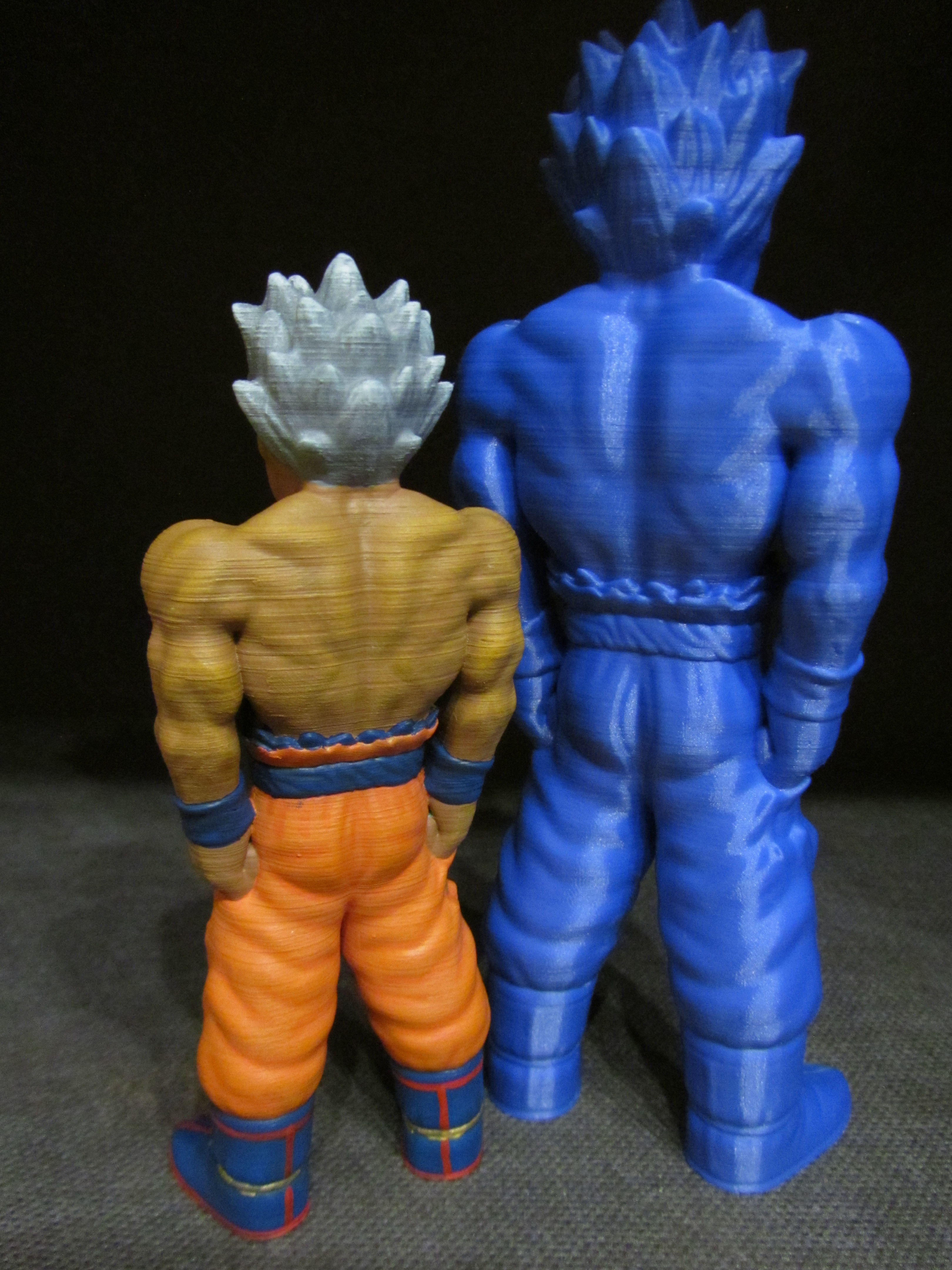 Goku-Painted-2.jpg Download free STL file Goku (Easy print no support) • 3D printing template, Alsamen