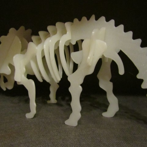 Triceratops 2.JPG Download free STL file Triceratops 3D Puzzle Construction Kit • 3D printing template, Alsamen